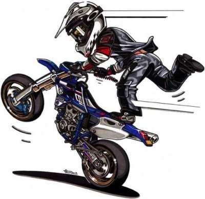 dibujos de motos tuning: